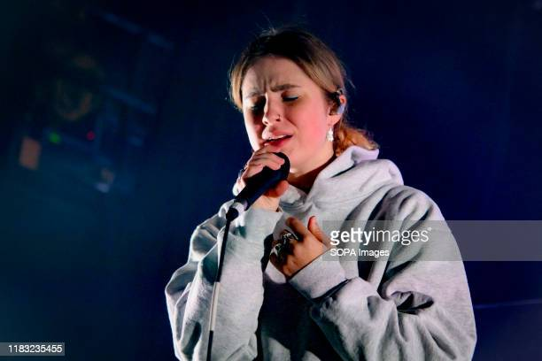 American singersongwriter Claire Cottrill known professionally as Clairo performs live on stage at a sold out show in Toronto