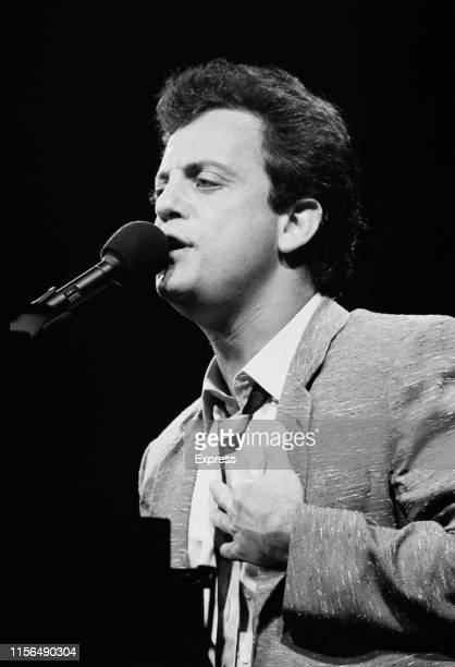 American singer-songwriter, composer and pianist Billy Joel performing live, UK, 7th June 1984.