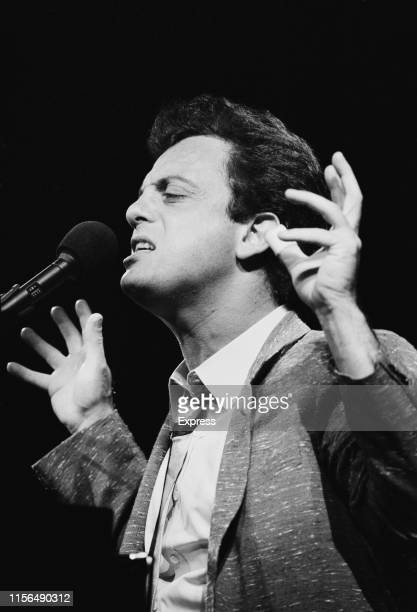 American singersongwriter composer and pianist Billy Joel performing live UK 7th June 1984
