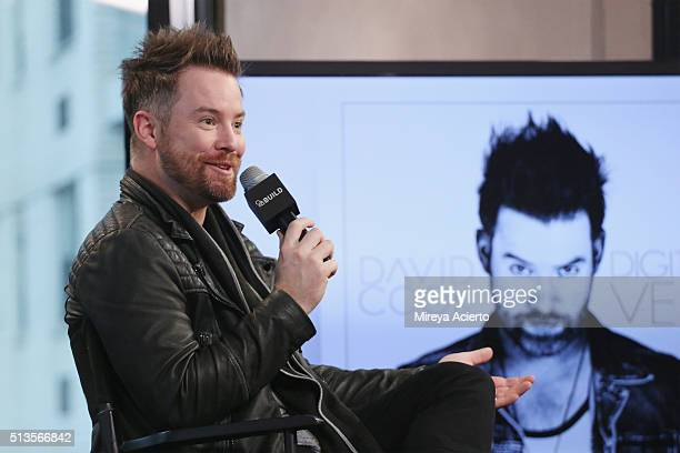 American singersongwriter David Cook from American Idoldiscusses his fourth studio album Digital Vein at AOL Studios in New York on March 3 2016 in...