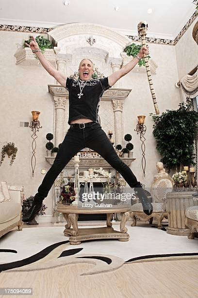 American singer/songwriter Dee Snider poses for a portait at his house on September 18 2012 in Long Island New York