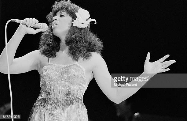 American singersongwriter Donna Summer performing on stage USA July 1979