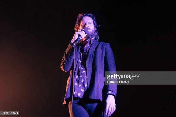 American singer/songwriter Father John Misty performs on stage at Usher Hall on November 1 2017 in Edinburgh Scotland