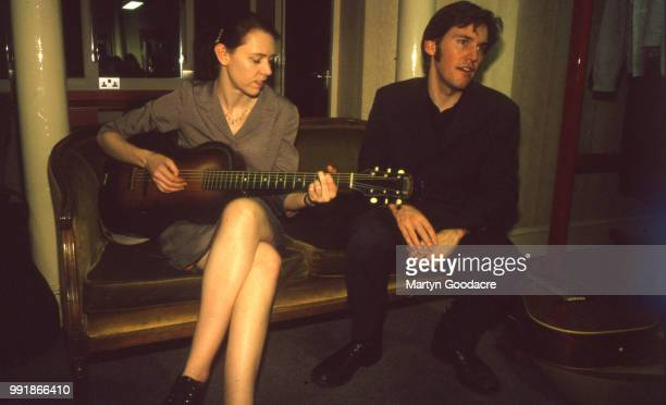 American singersongwriter Gillian Welch and American guitarist singer and record producer David Rawlings portrait United Kingdom 2000