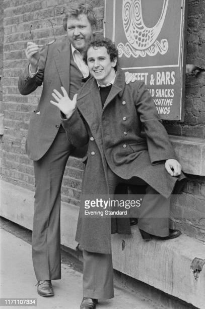 American singersongwriter Harry Nilsson and British dancer director choreographer and actor Wayne Sleep UK 25th October 1976