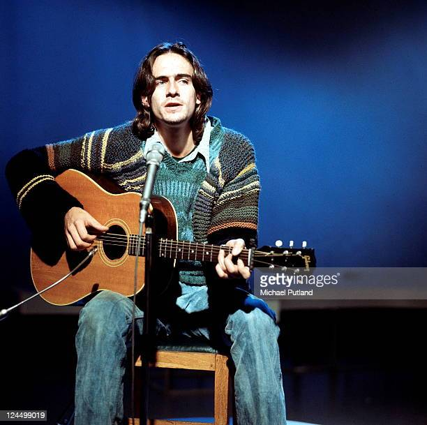 American singer-songwriter James Taylor at a BBC TV studio, London, 20th October 1970.