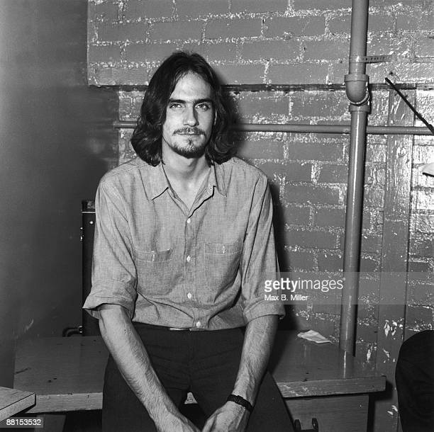 American singersongwriter James Taylor backstage at The Troubadour nightclub in West Hollywood California 1970
