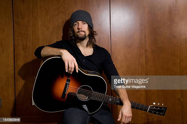 American singersongwriter Jason Mraz photographed during a portrait shoot for Total Guitar Magazine February 28 2012