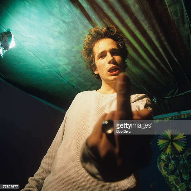 American singer/songwriter Jeff Buckley poses for a November 1994 portrait at the Tribeca club 'Wetlands' in New York City New York