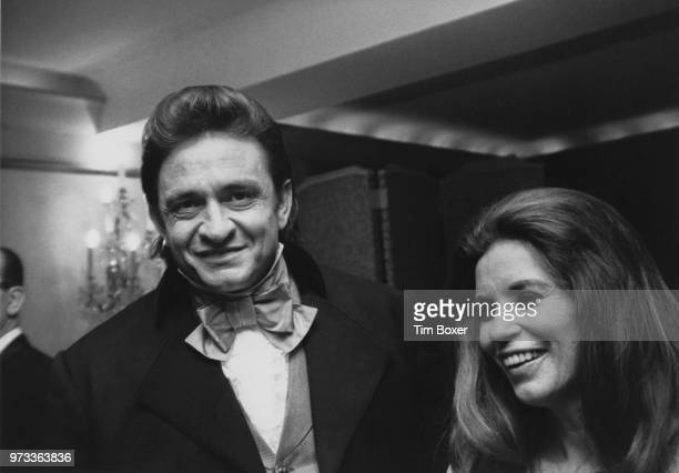 American singersongwriter Johnny Cash and his wife June Carter Cash attend the Bob Hope charity dinner in aid of the Eisenhower Medical Centre held...