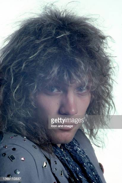 American singer-songwriter, Jon Bon Jovi, who is the founder and frontman of the rock band Bon Jovi, poses during a portrait session before their...