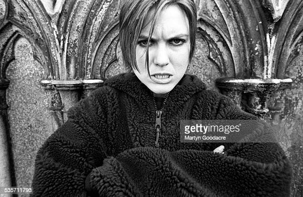 American singersongwriter Juliana Hatfield portrait Highgate Cemetery London United Kingdom 1991