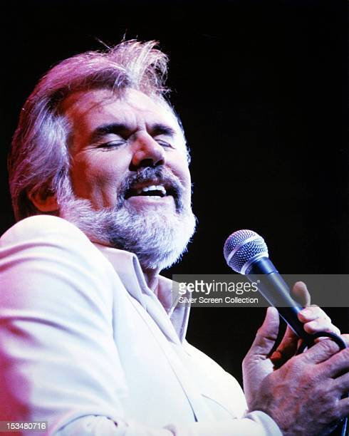 American singersongwriter Kenny Rogers performing circa 1980