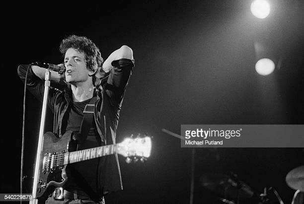 American singersongwriter Lou Reed performing at the Hammersmith Odeon 25th March 1975 The concert is part of Reed's world tour to promote the 'Rock...