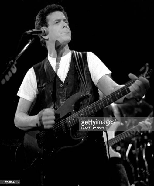 American singersongwriter Lou Reed performs on stage at Park West in Chicago Illinois United States 20th April 1987