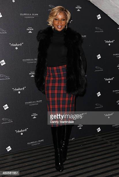 American singersongwriter Mary J Blige attends Isabella Blow Fashion Galore exhibition at Somerset House on November 19 2013 in London England