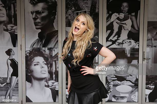 American singersongwriter Meghan Trainor poses during a photo shoot at Jazz City Milk Bar Darlinghurst on September 12 2014 in Sydney Australia