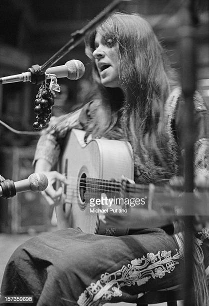 American singersongwriter Melanie Safka performing during a photocall at the Royal Albert Hall London 17th October 1972