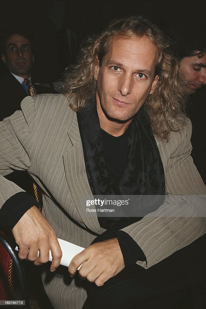American singer-songwriter Michael Bolton attends a Victoria's Secret fashion show, New York City, circa 1997.