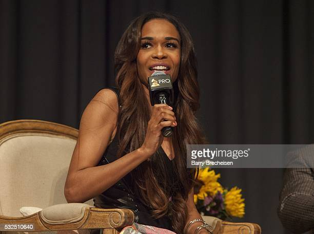 American singersongwriter Michelle Williams during the GRAMMY Up Close With Lalah Hathaway and Phil Thornton at the Chicago Cultural Center on May 18...
