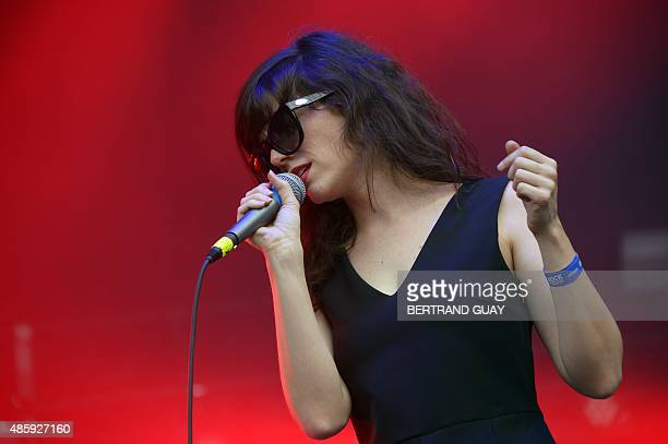 American singer-songwriter Natalie Prass performs during the Rock-en-Seine music festival in Saint-Cloud near Paris, on August 30, 2015. AFP PHOTO /...