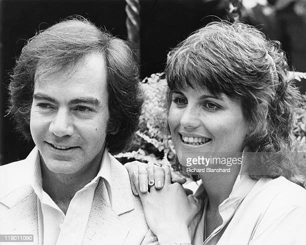 American singersongwriter Neil Diamond with actress and singer Lucie Arnaz his costar in the film 'The Jazz Singer' circa 1980