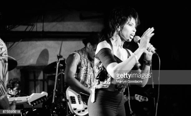 American singersongwriter Nona Hendryx performs on stage at the Borderline Charing Cross Road London 1989