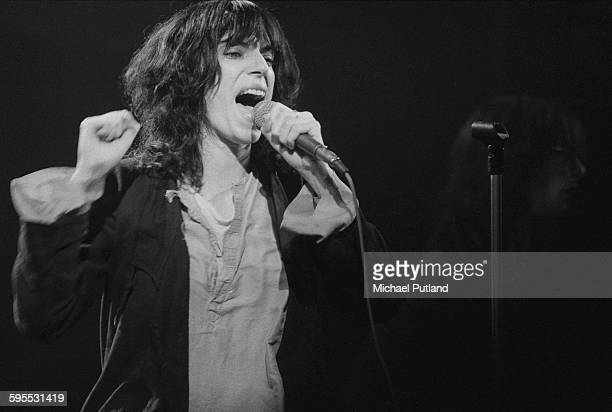 American singersongwriter Patti Smith performing on stage 20th May 1976