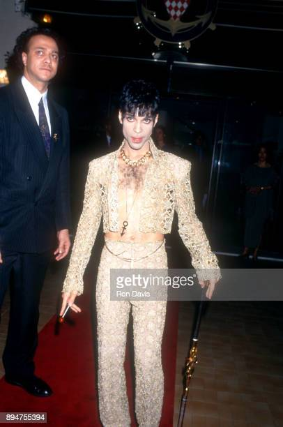 American singersongwriter Prince leaves after the 1994 World Music Awards on May 4 1994 in Monte Carlo Monaco