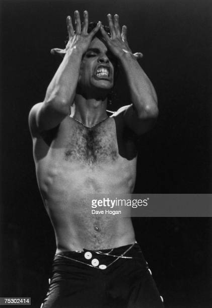American singersongwriter Prince performing on stage 1986