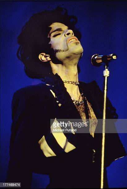 American singersongwriter Prince performs on stage London 1993