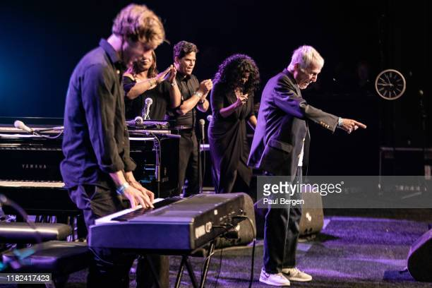 American singersongwriter producer pianist and composer Burt Bacharach takes the applause after his performance at North Sea Jazz festival Rotterdam...