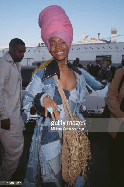 American singer-songwriter, record producer and actress. Erykah Badu arrives at the 13th Annual Soul Train Music Awards at Shrine Auditorium in Los...