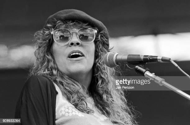 American singersongwriter Rickie Lee Jones performing at Tivoli Gardens Copenhagen Denmark July 1982