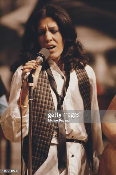 American singersongwriter Rita Coolidge performs on stage New York 1978