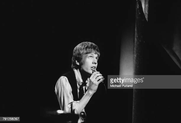 American singersongwriter Scott Walker formerly of The Walker Brothers performing on the BBC's 'Presenting Nana Mouskouri' TV show London 1970