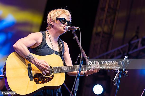 American singersongwriter Shawn Colvin performs with the Watkins Family Hour Band during a performance in celebration of the 50th anniversary of Bob...