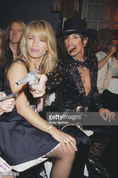 American singersongwriter Steven Tyler at the Betsey Johnson Fall/Winter 1995 fashion show 1995