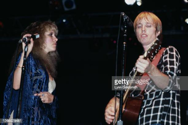 American singer-songwriter Stevie Nicks joins American singer-songwriter and guitarist Tom Petty onstage as his band, Tom Petty & The Heartbreakers,...