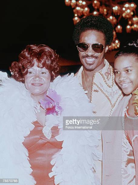 American singersongwriter Stevie Wonder with his mother Lula Mae Hardaway and sister at the Grammy Awards in Hollywood 2nd March 1974