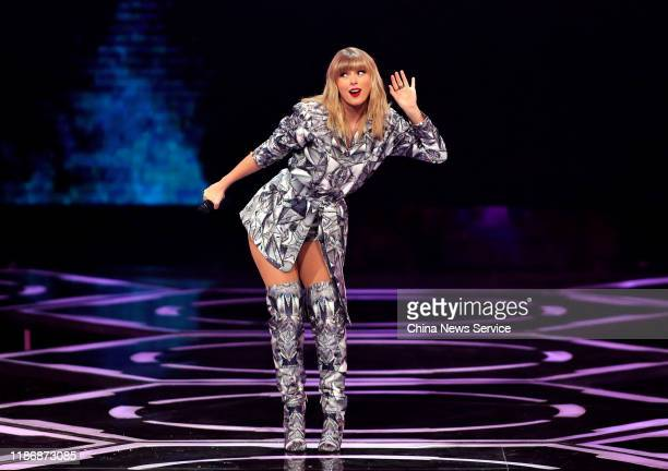 American singersongwriter Taylor Swift performs on stage during the gala of 2019 Alibaba 1111 Global Shopping Festival at MercedesBenz Arena on...