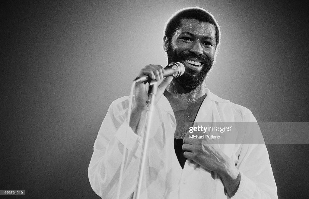 American singer–songwriter Teddy Pendergrass (1950 - 2010) performing in New York, 1981.
