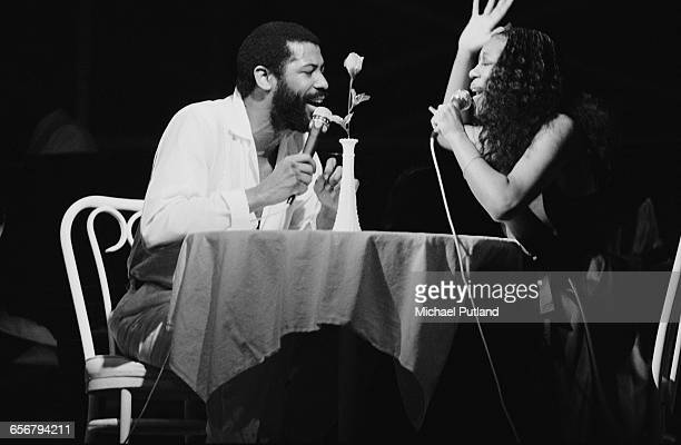 American singer–songwriter Teddy Pendergrass singing a duet wih a female artist New York 1981