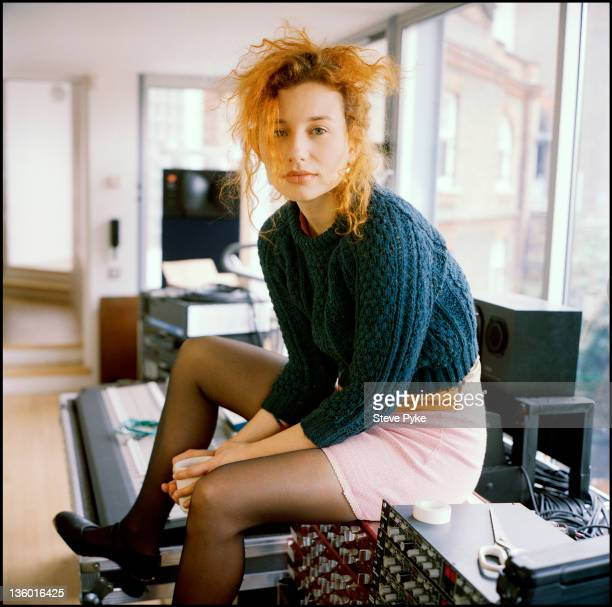 American singersongwriter Tori Amos in a recording studio London 30th April 1995