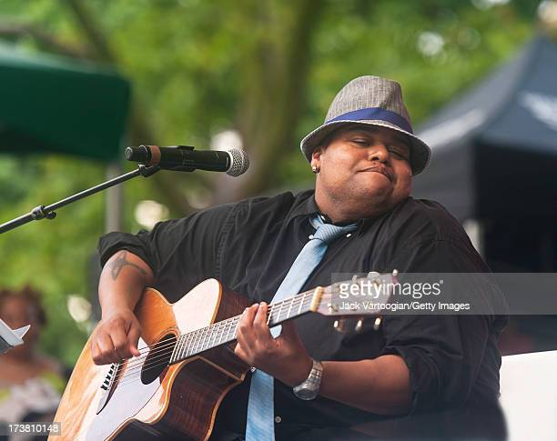 American singersongwriter Toshi Reagon and her band Big Lovely perform at 'Blink Your Eyes Sekou Sundiata Revisited' at Central Park SummerStage New...