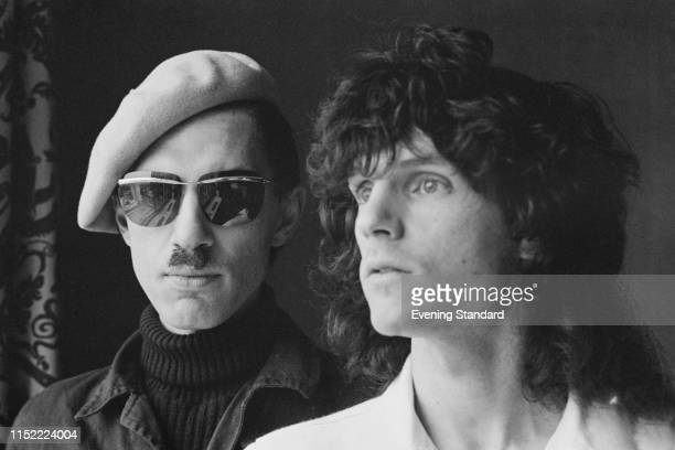 American singer-songwriters and musicians Russell Mael and Ron Mael of rock band Sparks, UK, 16th October 1975.