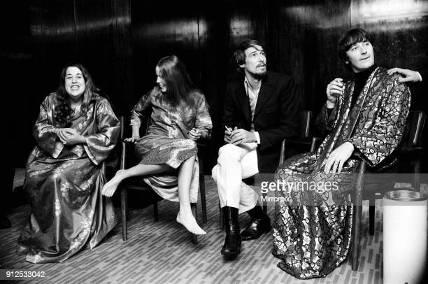 American singing group The Mamas and the Papas seen here in London lr Cass Elliott Michelle Gilliam John Philips and Denny Doherty The group held a...