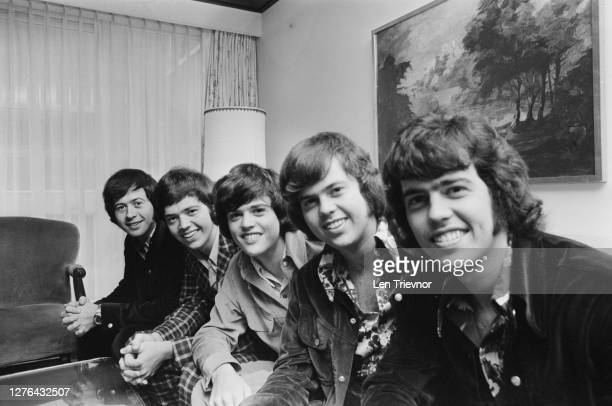 American singing group the Osmonds at the Churchill Hotel in London, 29th October 1972. From left to right, they are brothers Wayne, Jay, Donny,...