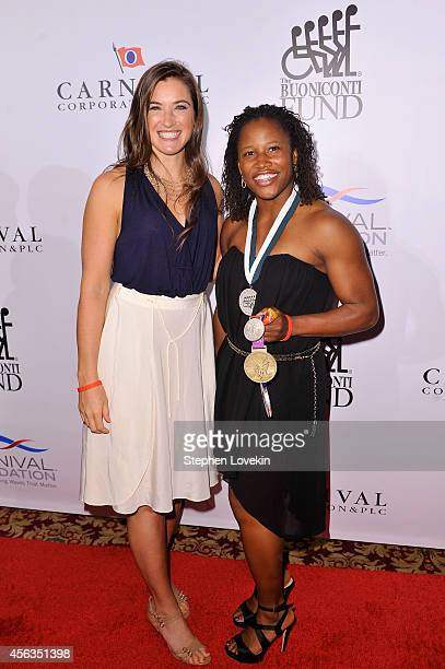 American skeleton racer Bree Schaaf and track and field athlete Lauryn Williams attend the 29th Annual Great Sports Legends Dinner to benefit The...