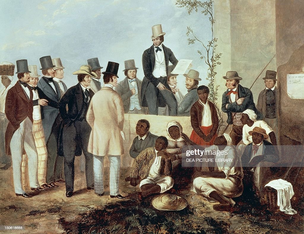 American slave market : News Photo